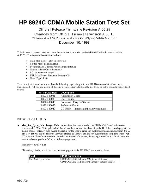 8924C CDMA Mobile Station Test Set A.06.25.pdf | Keysight