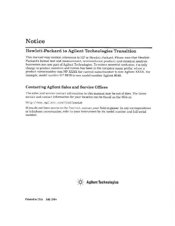 70900A/B LO Module Firmware Note   Keysight