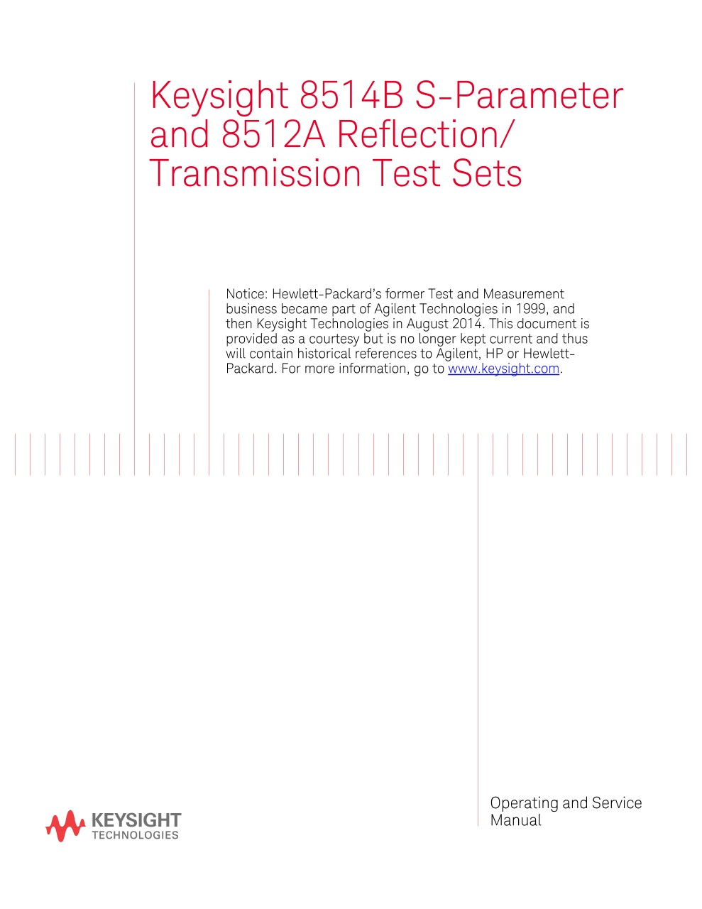 8514B S-Parameter and 8512A Reflection/Transmission Test Sets ...
