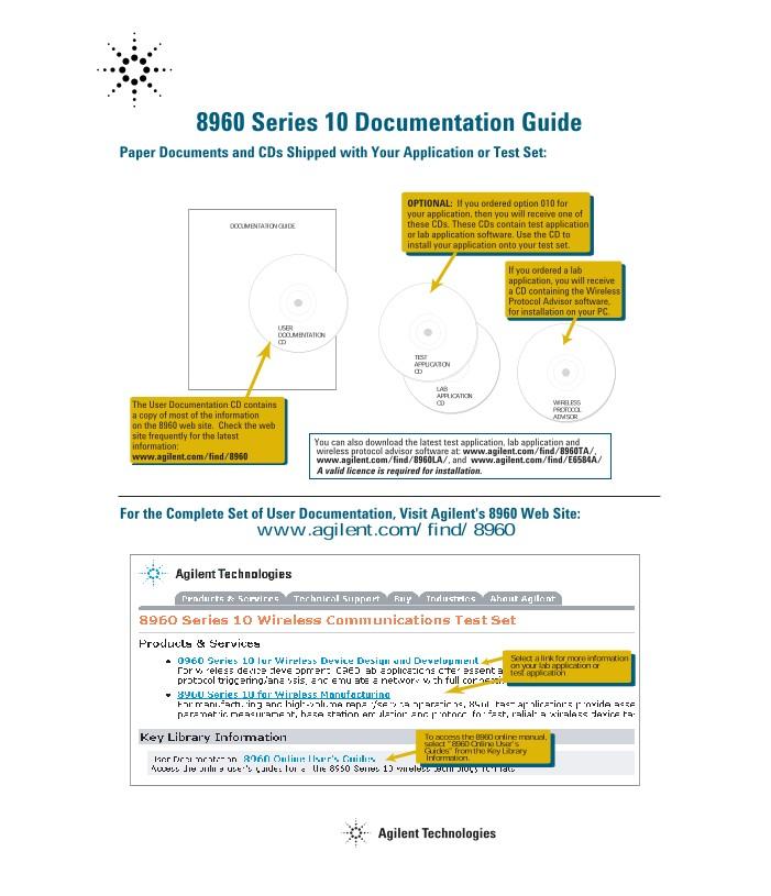 8960 Documentation Guide | Keysight