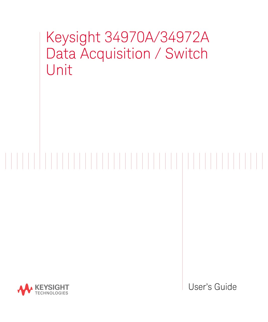 34970A/34972A Data Acquisition / Switch Unit User's Guide   Keysight