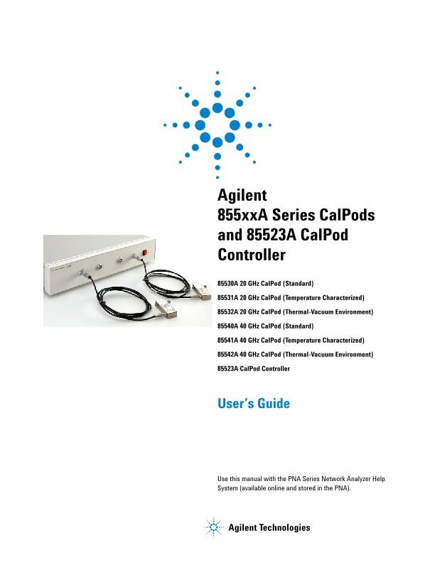 855xxA Series CalPods and 85523A CalPod Controller User's Guide ...