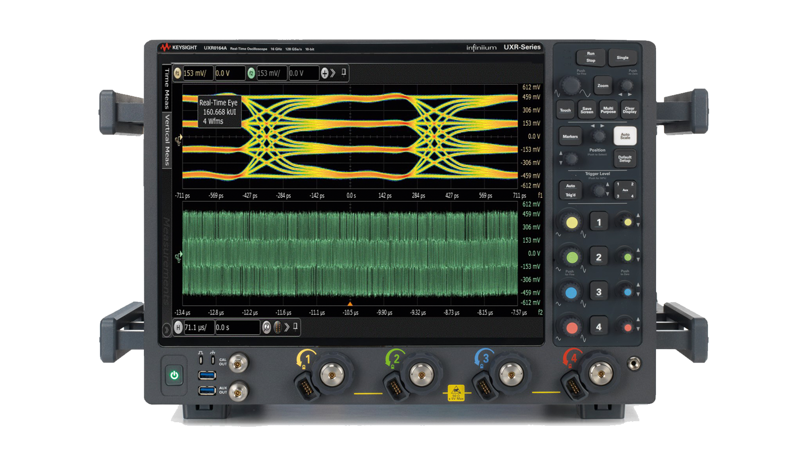 AE6920T automotive Ethernet transmit compliance application runs on Keysight UXR and V-series oscilloscopes.