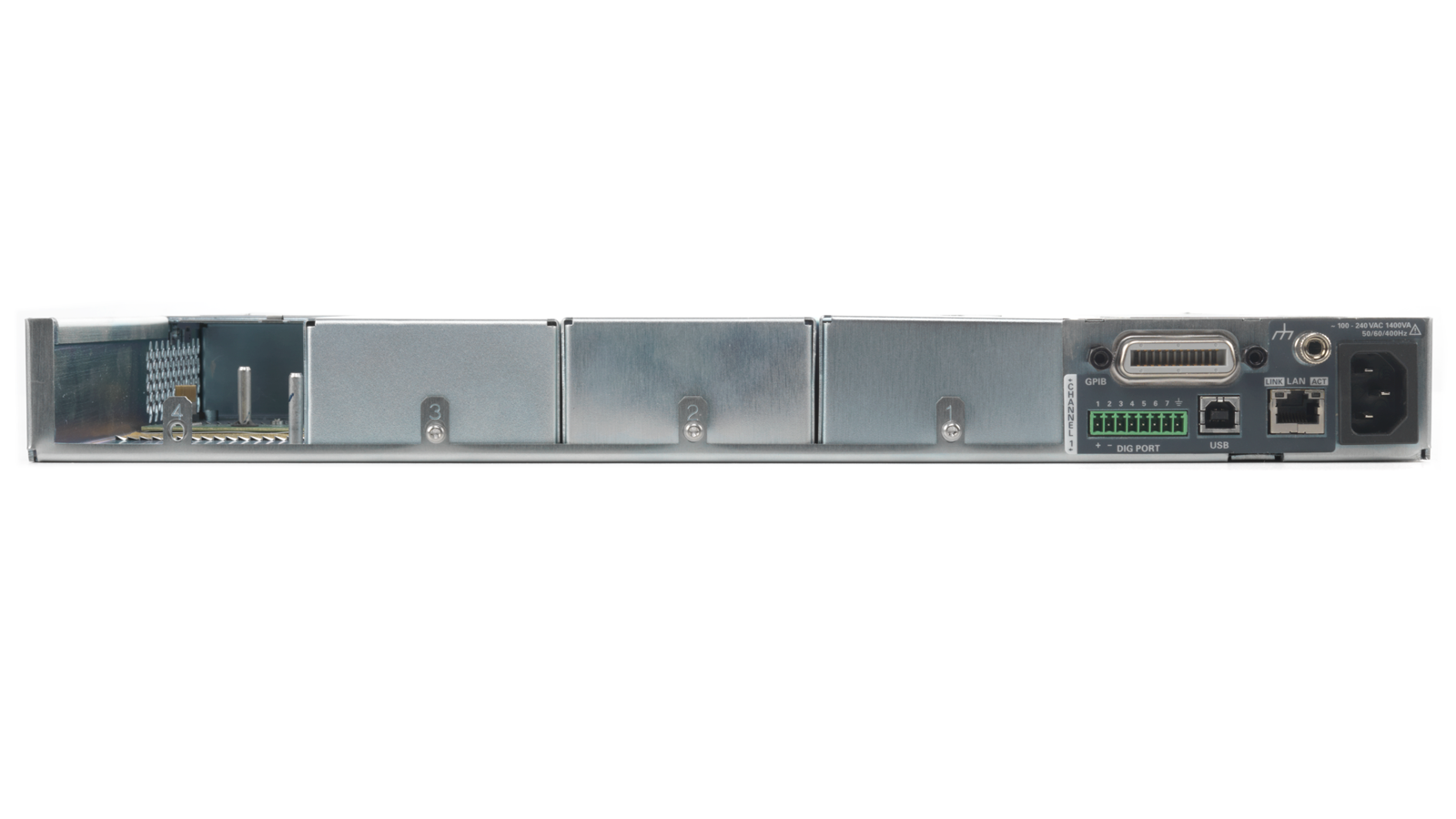 N6700 series modular power supply - Back panel