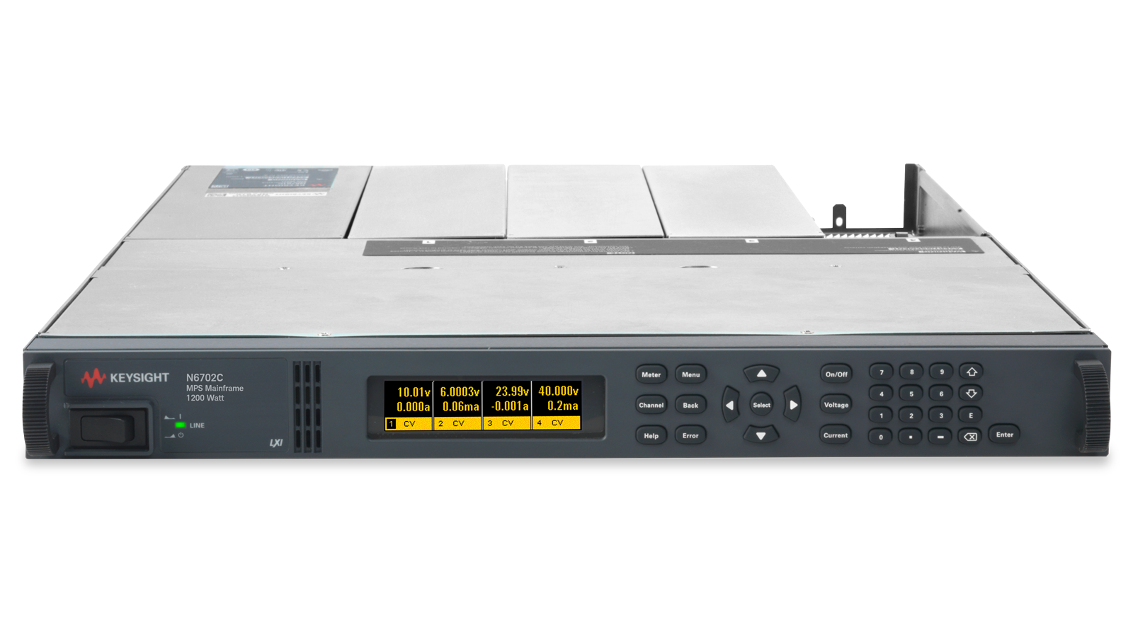 N6700 series modular power supply - front top
