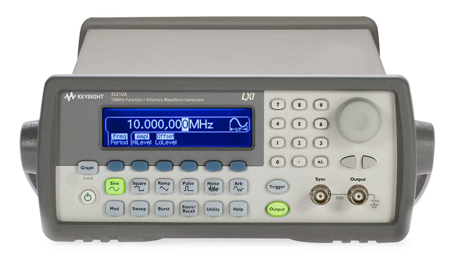 Keysight 32210a  – Top front view