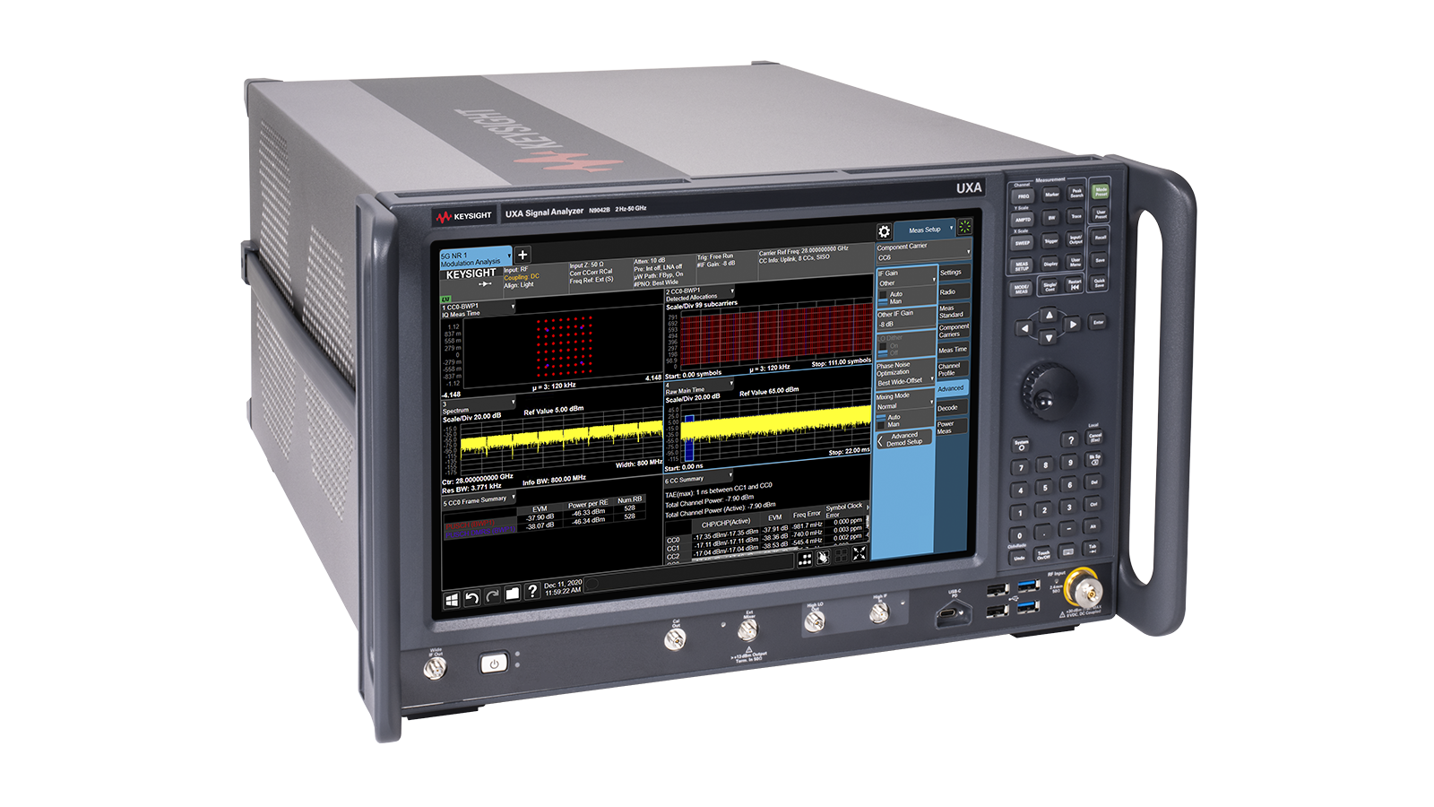 UXA Signal Analyzer left angle image