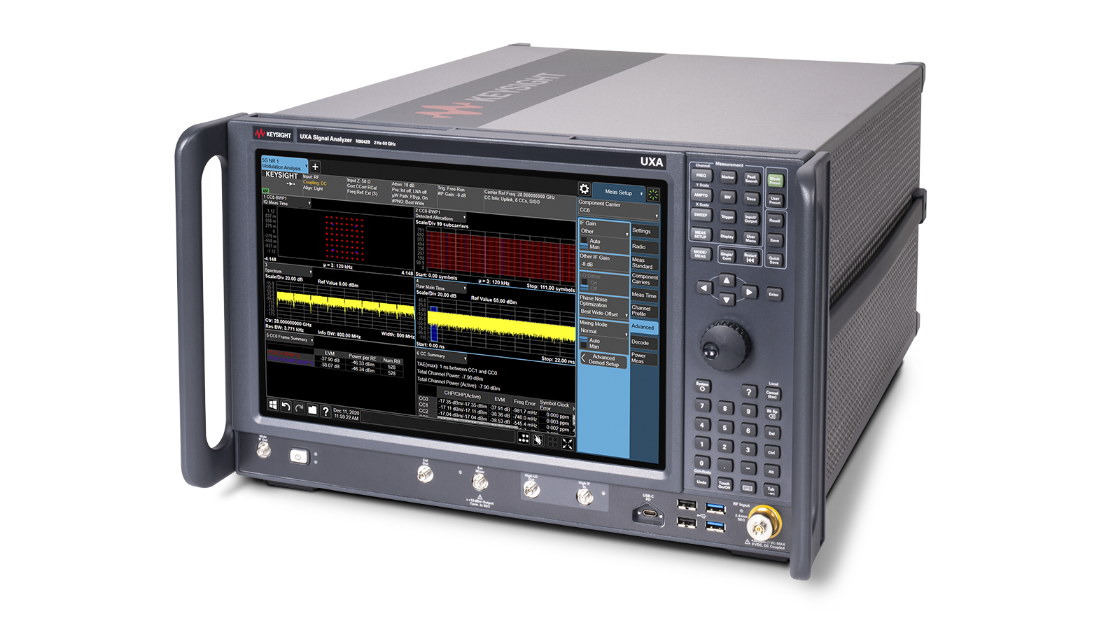 UXA Signal Analyzer right angle image