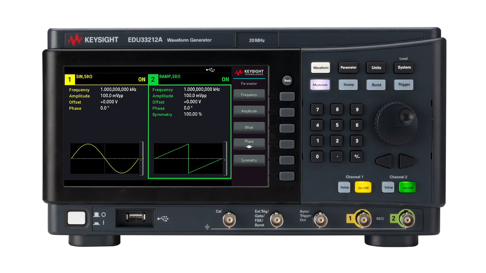 EDU33210A Series Smart Bench Essentials Waveform and Function Generators |  Keysight