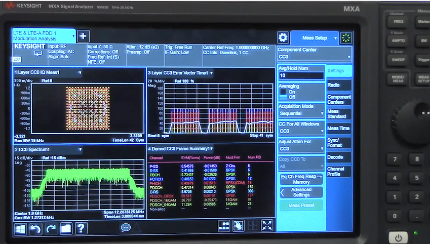 Streamline LTE-Advanced 256QAM Modulation Analysis